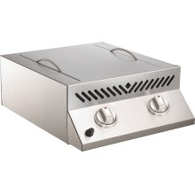 Built-in Flat Top SIZZLE ZONE Two Infrared Burners , Stainless Steel , Propane