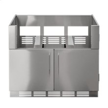 "OUTDOOR KITCHEN CABINETS IN STAINLESS STEEL  PURE 42"" Grill Base Cabinet 2 doors"