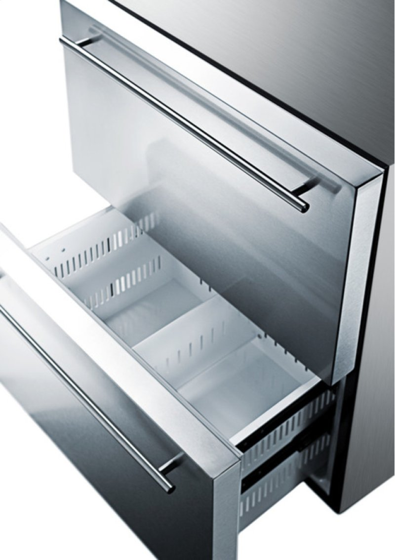 Summit - Two-drawer Refrigerator-freezer for Built-in or ...