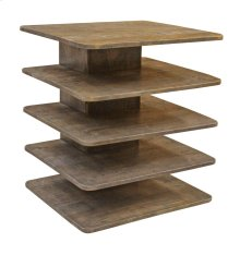 Bengal Manor Mango Wood Tiered Accent Table