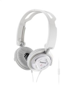 FOLDZ® On-Ear Stereo Headphones with Mic/Controller - White - RP-DJS150M-W