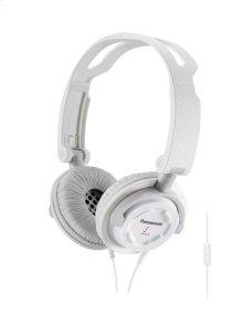 FOLDZ® On-Ear Stereo Headphones with Mic/Controller - White - RP-DJS150M-W
