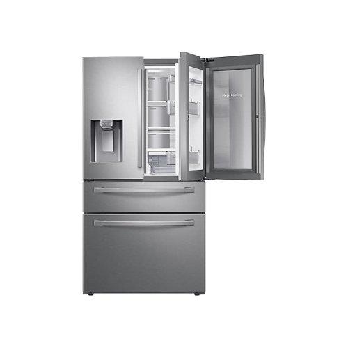 28 cu. ft. 4-Door French Door Refrigerator with Food Showcase in Stainless Steel