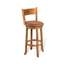 "24""H Sedona Double Crossback Barstool w/ Cushion Seat"