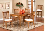 Bayberry 5pc Rectangle Dining Set - Oak