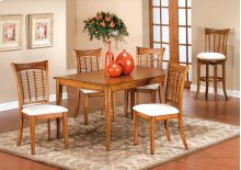 Bayberry 5pc Rectangle Dining Set Oak