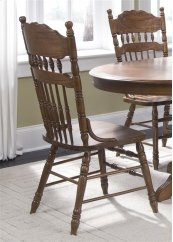 Embossed Back Side Chair