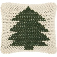Home for the Holiday Dc569 Green Ivory Throw Pillows