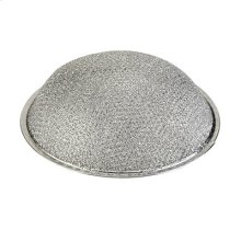 "Round Aluminum Grease Filter, 10-1/2"" x 3/32"" Thickness with 3-1/4"" Dome"