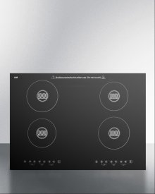 Built-in 220 Volt Induction Cooktop With Four Zones and Black Ceran Smooth-top Finish