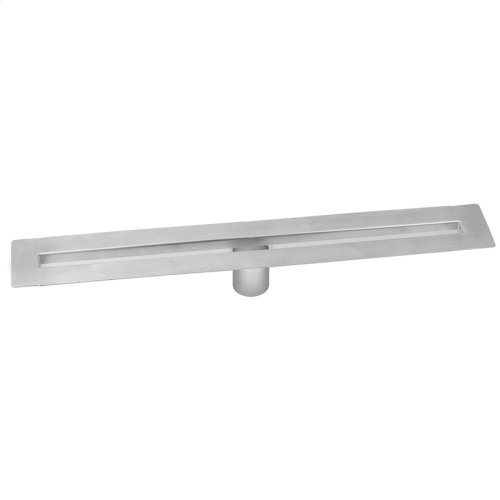 """Brushed Stainless - 48"""" zeroEDGE Slim Channel Drain Body"""
