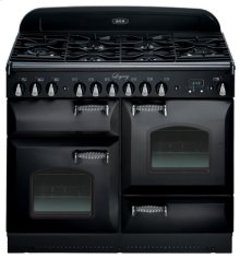 """Black with cathedral doors AGA Legacy 44"""" Dual-Fuel Range"""