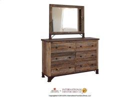 Antique 6 Drawer Dresser & Mirror