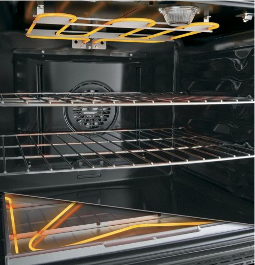 """SCRATCH & DENT- GE Profile™ Series 30"""" Free-Standing Electric Double Oven Convection Range"""