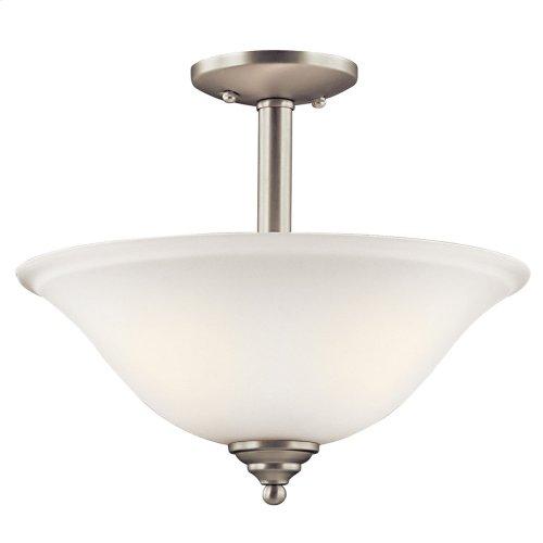 Armida 2 Light Convertible Pendant with LED Bulbs Brushed Nickel