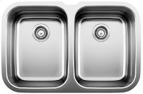 Blanco Supreme 2 Equal Double Bowl (bowl Depths 10'') - Satin Polished Finish
