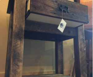 Reclaimed One Drawer Low Shelf Nightstand