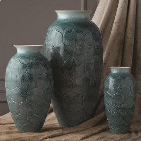 Lady Lo's Vase-Teal-Med