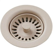Elkay Polymer Drain Fitting with Removable Basket Strainer and Rubber Stopper Putty