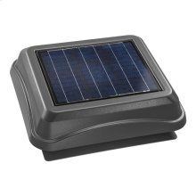 Surface Mount, Solar Powered Attic Ventilator in Weathered Wood