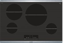 """800 Series 30"""" Induction Cooktop, NIT8068SUC, Black with Stainless Steel Frame"""