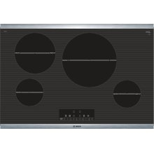 "800 Series 30"" Induction Cooktop, NIT8068SUC, Black with Stainless Steel Frame"