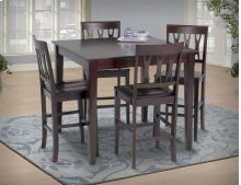 Counter Table + 4 ESPRESSO - Counter Chair (Pack 2/Carton)