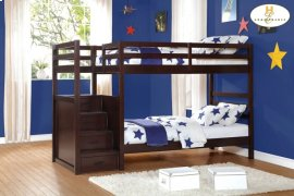 Bunk Bed with Step Storages