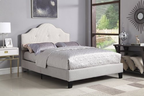 Emerald Home Anchor Bay Upholstered Bed Cream B134-12hbfbr-09