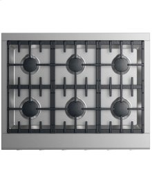"Gas Cooktop 36"", 6 burners"