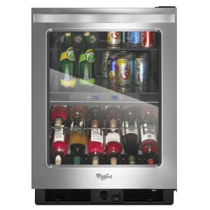 Whirlpool24-inch Wide Undercounter Beverage Center with Dual-temperature Controlled Zones - 5.8 cu. ft.