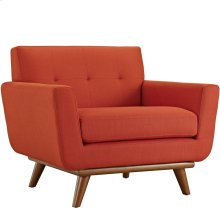 Engage Upholstered Fabric Armchair in Atomic Red