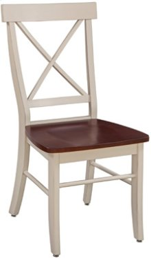 X Back Chair Espresso & Almond