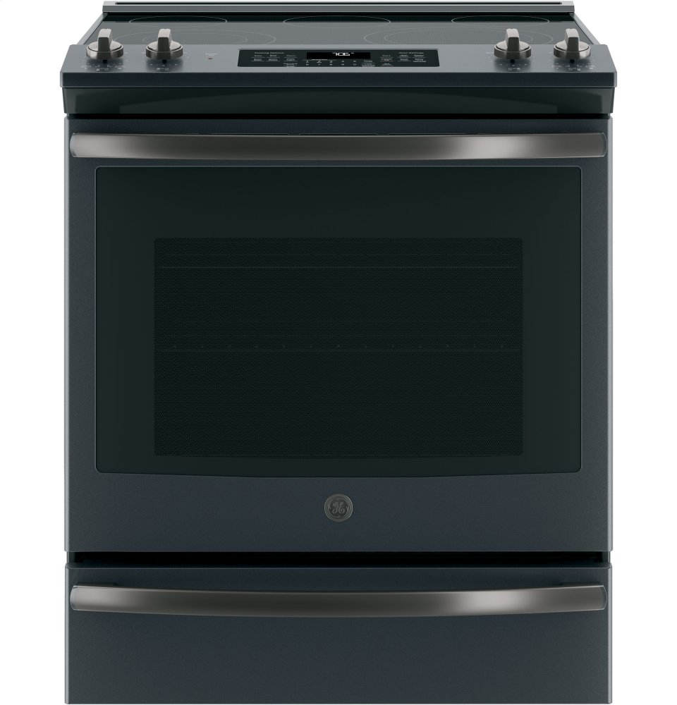 "GE(R) 30"" Slide-In Electric Convection Range