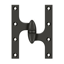 "6"" x 4 1/2"" Hinge - Oil-rubbed Bronze"