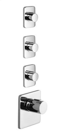 xTOOL thermostat with three volume controls - chrome