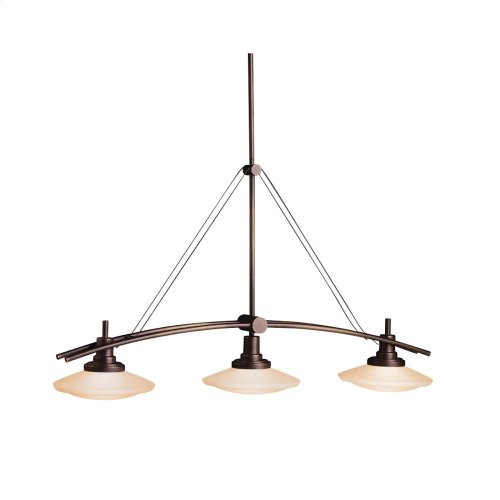 Structures Collection Structures 3 Light Halogen Linear Chandelier - NI