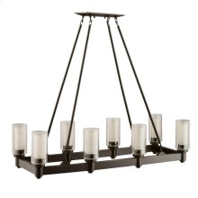 Circolo Collection Circolo 8 Light Linear Chandelier Olde Bronze