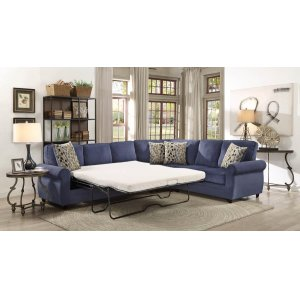 Kendrick Transitional Blue Sectional