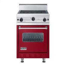 """Apple Red 24"""" Char-Grill Companion Range - VGIC (24"""" wide range with char-grill, single oven)"""