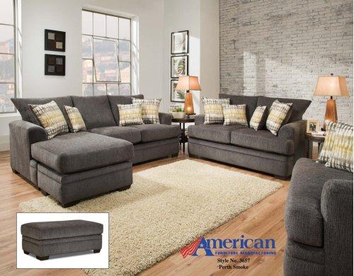 3650 - Perth Smoke Sofa