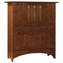 Bottom Door Concealed Storage, Oak Harvey Ellis Fall Front Bar