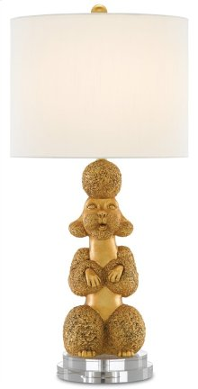 Ms. Poodle Gold Table Lamp