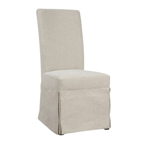 Emerald Home Paladin Parsons Chair Beige Upholstered-setup D350-22-03