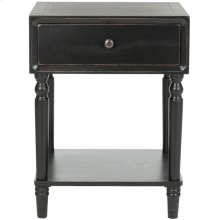 Siobhan Accent Table With Storage Drawer - Black