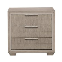 Contemporary Nightstand with USB Ports