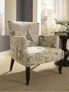 French Calligraphy Wing Chair Product Image
