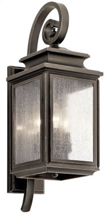"Wiscombe Park 21.75"" 3 Light Wall Light Olde Bronze®"