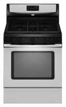 30-inch Self-Cleaning Freestanding Gas Range with Five Burners and Full-Width Satin-Finish Cast-Iron Grates Product Image
