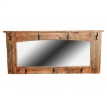 Reclaimed Wall Mirror w/Hooks